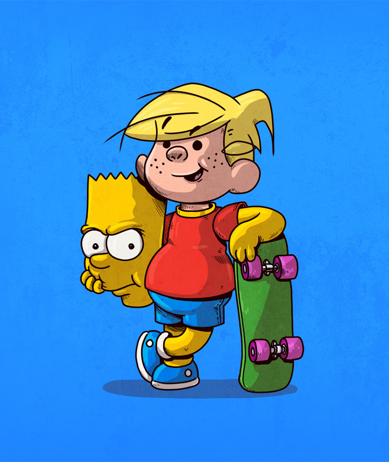 Dennis the Menace is Bart Simpson