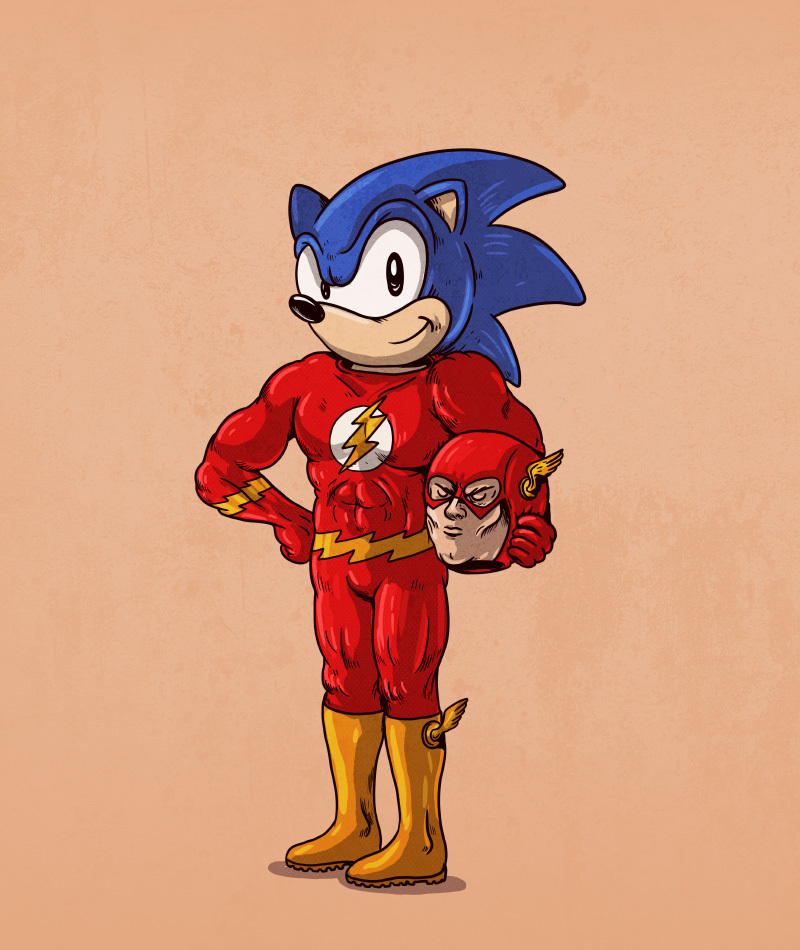 Sonic the Hedgehog is The Flash