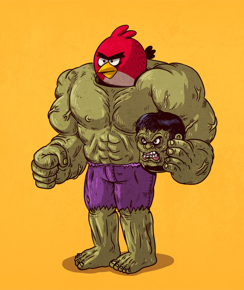 Angry Birds are The Hulk
