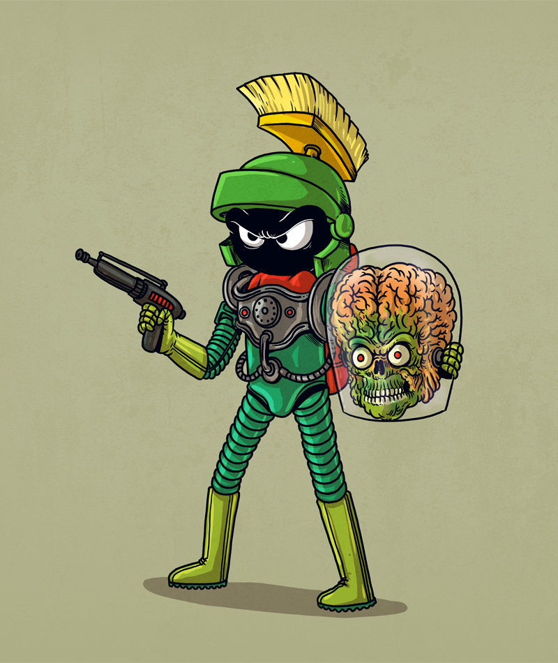 Marvin the Martian is a Mars Attacks Martian