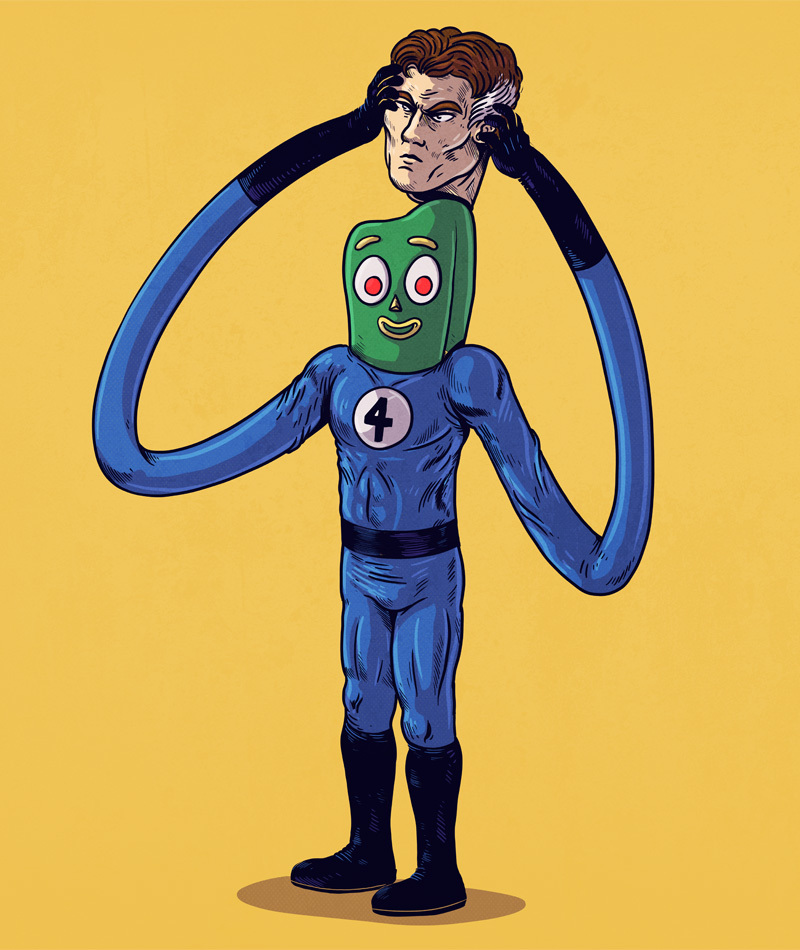 Gumby is Mr. Fantastic