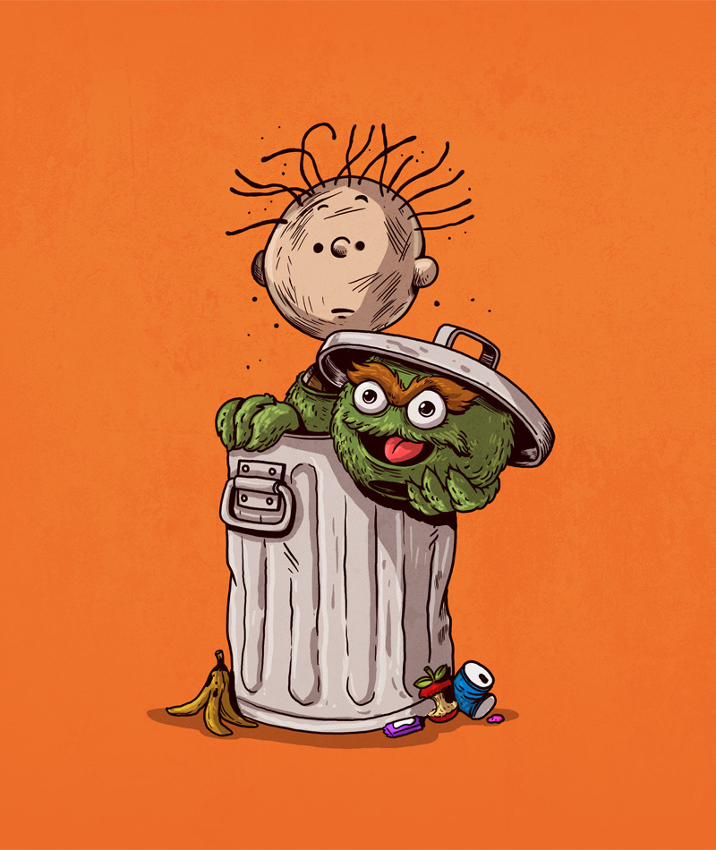 Pig Pen is Oscar the Grouch