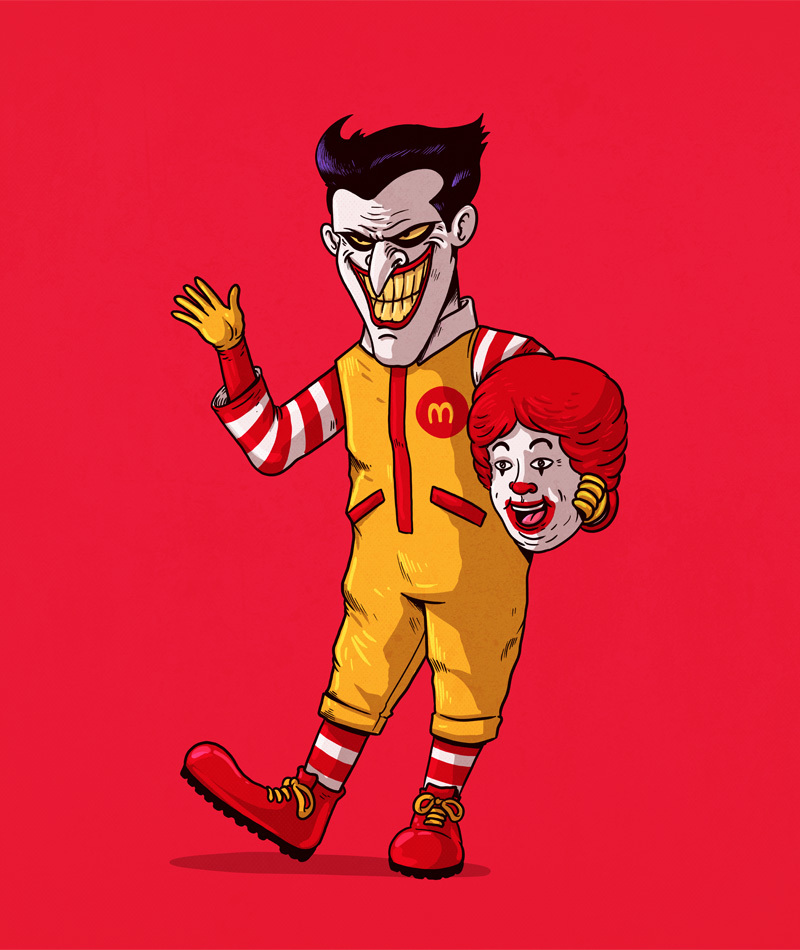 The Joker is Ronald McDonald