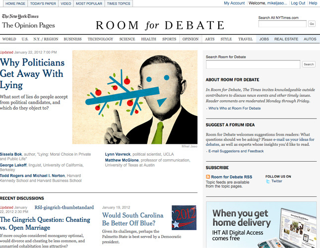 Room for Debate - * Mikel Jaso: Graphic Artist *